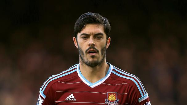 West Ham defender James Tomkins hopes to return before the end of the Premier League season