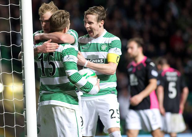 Celtic's Kris Commons (15) celebrates his goal