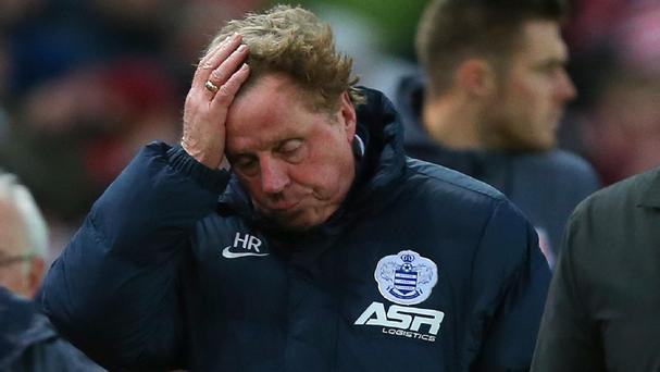 Harry Redknapp has hit out at off-field events during his time at QPR