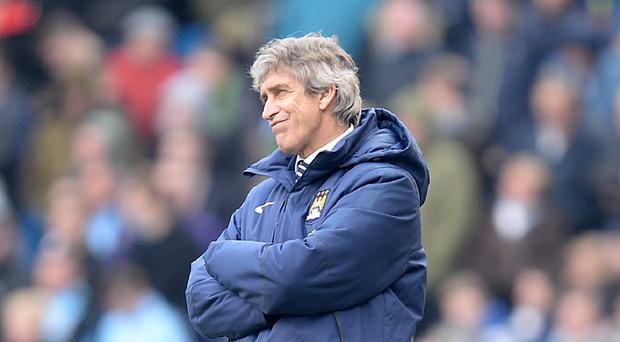 Manuel Pellegrini has attempted to play down Manchester City's problems