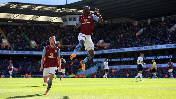 Christian Benteke celebrates the only goal of the game
