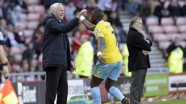 Crystal Palace boss Alan Pardew wants Yannick Bolasie, right, to keep up his goalscoring form