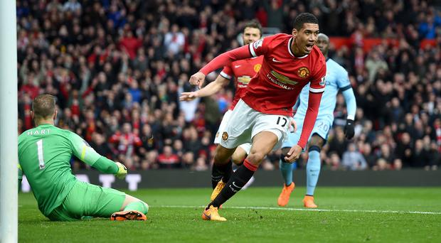 Chris Smalling was one of four Manchester United scorers