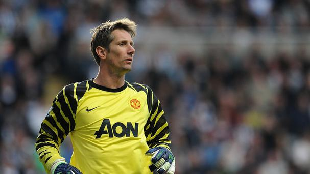 Edwin Van der Sar, pictured, spent six years at United