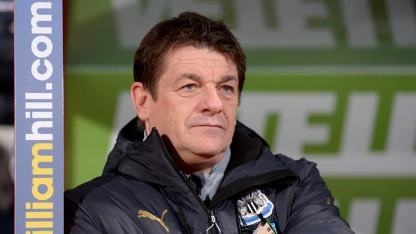 John Carver has insisted he is enjoying his stint as Newcastle's head coach