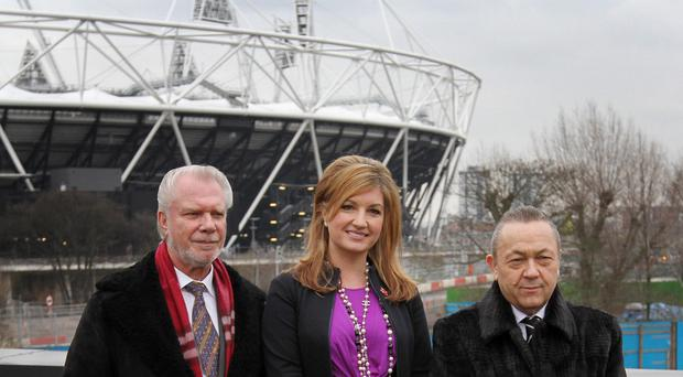 Vice-chairman Karren Brady, centre, has hailed West Ham's Olympic Stadium move as a