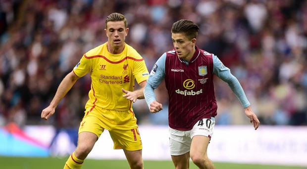 Jack Grealish, right, is looking to move on from his recent bad publicity