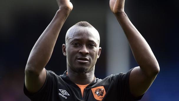 Steve Bruce hopes Dame N'Doye, pictured, can fire the goals to guide Hull to Premier League safety