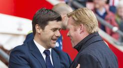 Mauricio Pochettino with Ronald Koeman