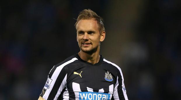 Siem de Jong's first goal for Newcastle could not prevent them from slipping to defeat against Swansea