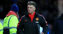 Manchester United manager Louis van Gaal was less than impressed with his side's desire