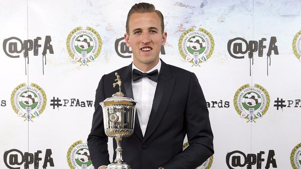 Tottenham's Harry Kane was named PFA Young Player of the Year on Sunday night