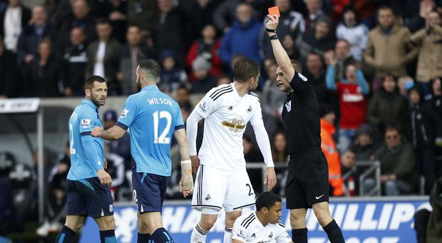 Marc Wilson's red card was a key moment in the game