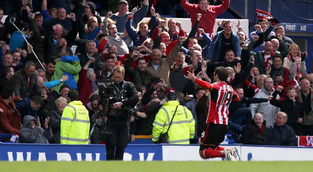 Danny Graham celebrates his first goal for Sunderland
