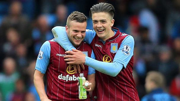 Tom Cleverley, left, was Aston Villa's hero against West Ham