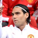 Falcao has had to get used to life on the bench at Old Trafford
