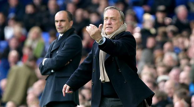 Sunderland head coach Dick Advocaat, right, has overseen 10 points from six games