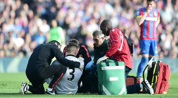 Luke Shaw suffered an injury against Crystal Palace