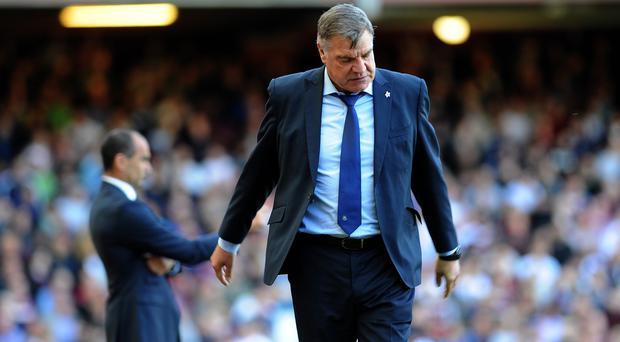 West Ham manager Sam Allardyce was frustrated as the Hammers conceded late on to lose to Everton