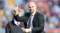 Burnley manager Sean Dyche gave the thumbs up to his side's performance against Stoke