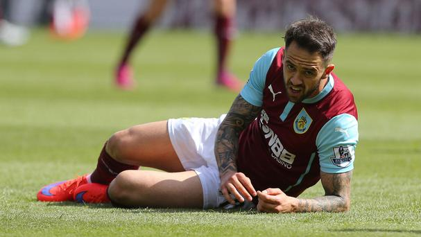 Danny Ings looks set to leave Burnley when his contract expires in the summer