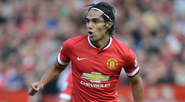 Falcao started for Manchester United on Sunday