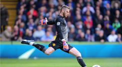 Goalkeeper David De Gea, pictured, could have played his final game for Manchester United, manager Louis van Gaal has hinted