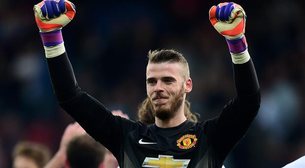 David de Gea was honoured by his Manchester United team-mates
