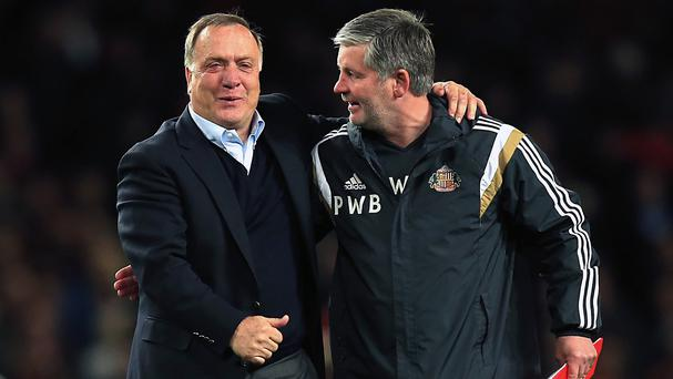 Dick Advocaat, left, has guided Sunderland to Premier League safety