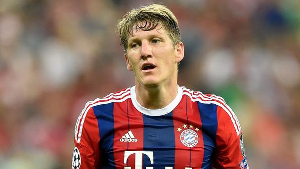 Bayern Munich's Bastian Schweinsteiger is on Louis van Gaal's summer wish-list