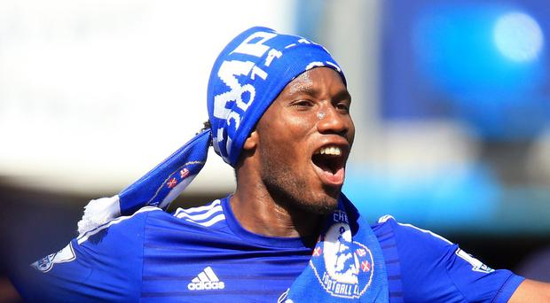 Didier Drogba signed off in style after Chelsea won the league title this season