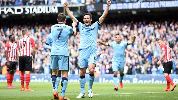 Frank Lampard signed off in perfect fashion at Manchester City