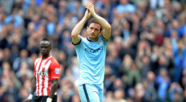 Frank Lampard scored in his final appearance for Manchester City