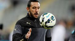 Newcastle's Jonas Gutierrez has re-lived his successful battle against cancer