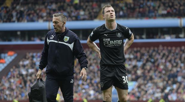 Ashley Barnes, pictured right, is destined to spend his summer on the treatment table