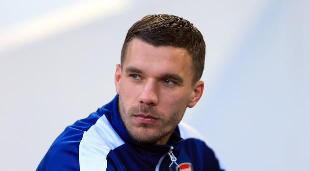 Lukas Podolski's contract with the Gunners still has a year left to run on it