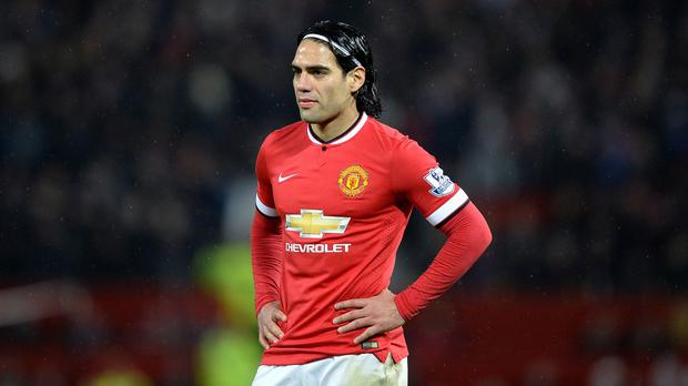 Radamel Falcao didn't do well with United