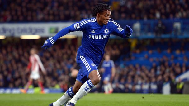 Juan Cuadrado, pictured, would welcome fellow Colombia international Radamel Falcao at Chelsea next season