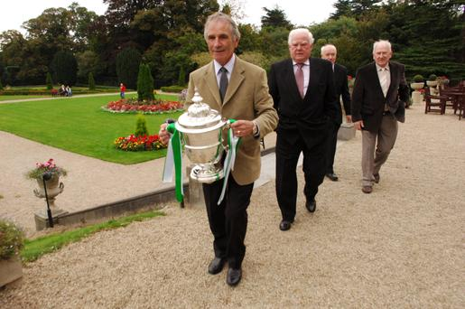 Three-in-row: Fullam holding the FAI Cup in 2007