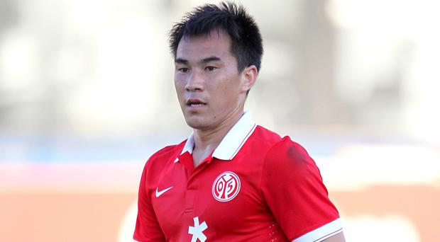 Shinji Okazaki, pictured, has become Leicester's third summer signing after Robert Huth and Christian Fuchs