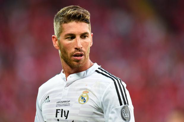 Real Madrid defender Sergio Ramos