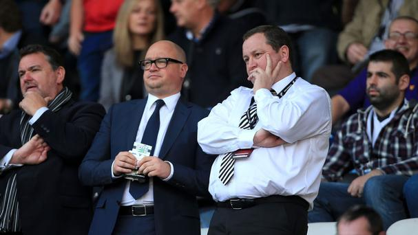Newcastle owner Mike Ashley, right, and chief executive Lee Charnley are still awaiting a summer transfer breakthrough