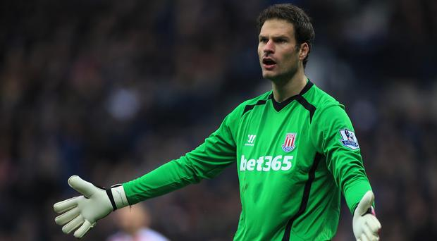 Goalkeeper Asmir Begovic has been named in the Stoke squad for their pre-season trip to Singapore