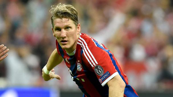 Bayern Munich's Bastian Schweinsteiger is poised to join Manchester United