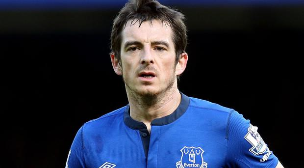 Leighton Baines is making good progress in his recovery from ankle surgery