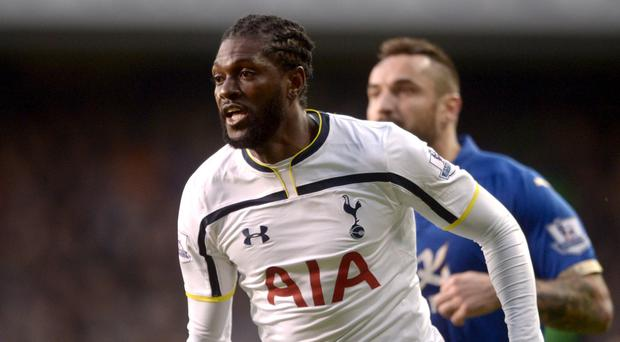 Tottenham's Emmanuel Adebayor could complete a switch to Aston Villa this week
