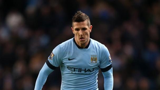 Manchester City striker Stevan Jovetic, pictured, has joined Inter Milan on loan
