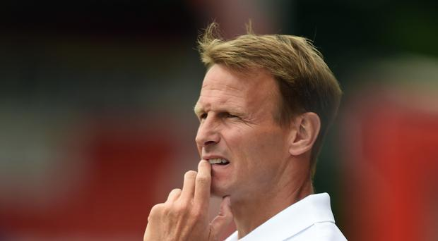 Teddy Sheringham watched his Stevenage side lose against his old club Spurs on Saturday