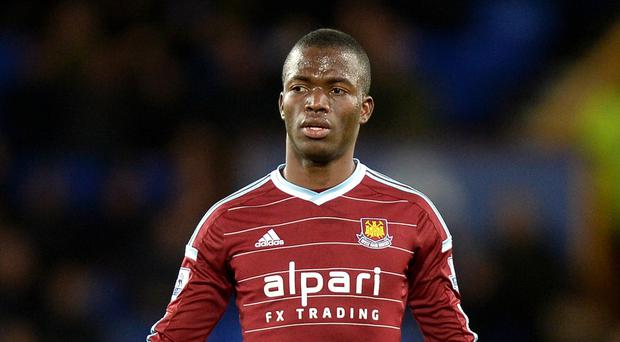 Enner Valencia, pictured centre, is likely to be out of action for up to three months