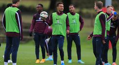 England youth international Lewis Baker, centre, is on loan at Vitesse Arnhem